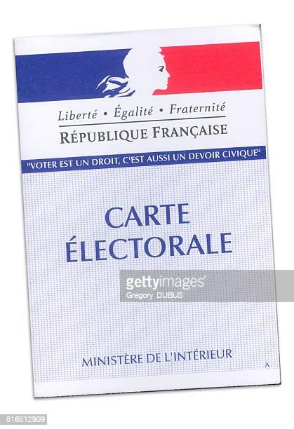 Carte électorale français