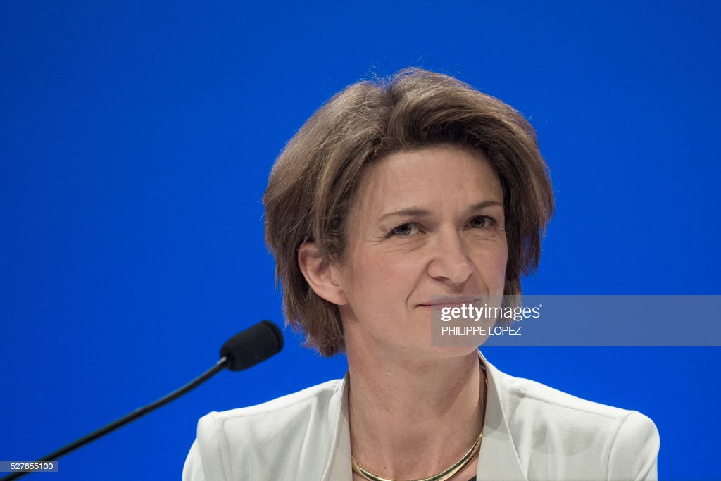 French energy giant ENGIE's new chief executive officer Isabelle Kocher attends a general assembly of the group in Paris on May 3, 2016. / AFP / PHILIPPE