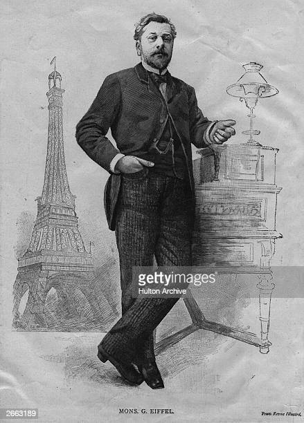 French engineer Alexandre Gustave Eiffel and his most famous project the Eiffel Tower Original Publication People Disc HD0357