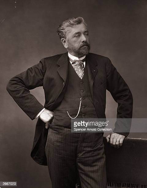 French engineer Alexandre Gustave Eiffel designer of many notable bridges and viaducts and most famously the Eiffel Tower in Paris
