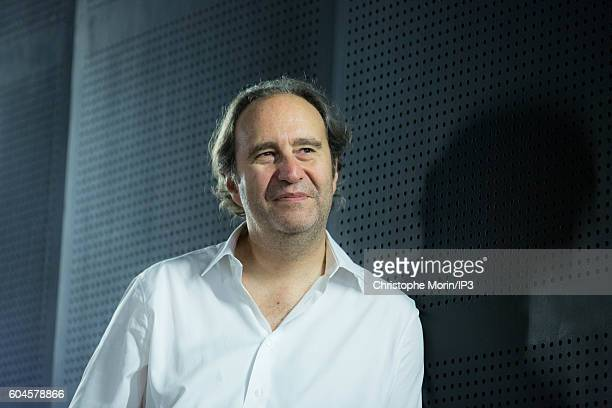 French entrepreneur Xavier Niel during the visit of Chris Cox Chief Product Officer at Facebook of '42' a private computer programming school that...