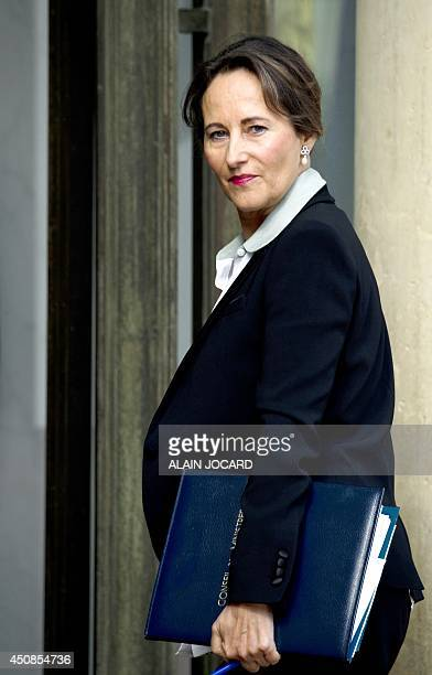 French Environment and Energy Minister Segolene Royal arrives at the Elysee Palace in Paris on June 18 2014 for a weekly cabinet meeting AFP PHOTO/...