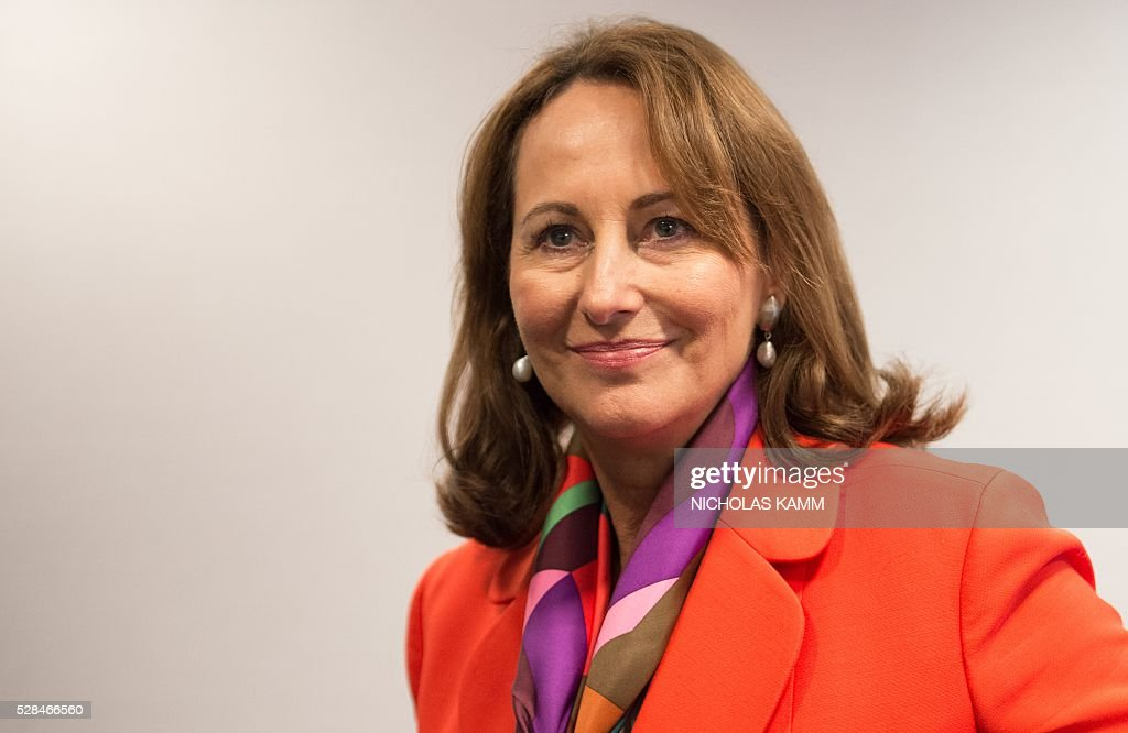 French Environment Minister Segolene Royal speaks to AFP on the sidelines of the Climate Action 2016 conference in Washington, DC, on May 5, 2016. / AFP / NICHOLAS