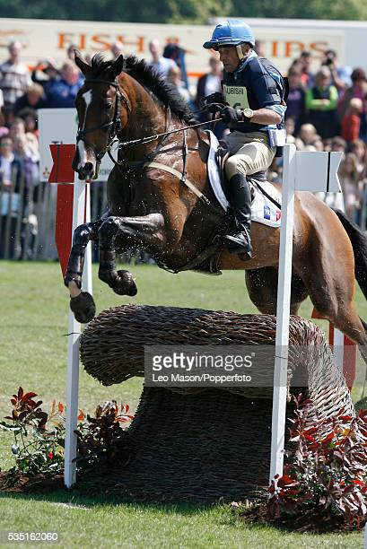 French equestrian Bruno Bouvier competes on Harry during the Cross Country Test at The Lake Complex at the 2007 Mitsubishi Motors Badminton Horse...