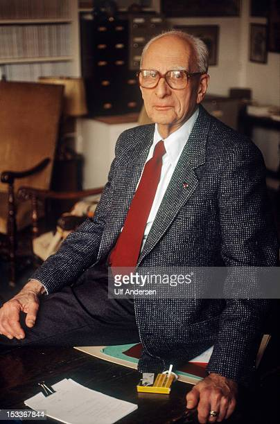 French ethnologist and anthropologist Claude Levi Strauss poses during a portrait session held on December 15 1993 in Paris France