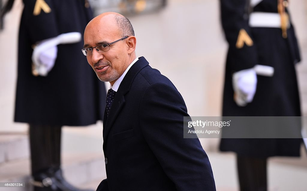 French European Affairs Minister <a gi-track='captionPersonalityLinkClicked' href=/galleries/search?phrase=Harlem+Desir&family=editorial&specificpeople=766371 ng-click='$event.stopPropagation()'>Harlem Desir</a> is seen before he meets Italian Prime Minister Matteo Renzi (not seen) at the Elysee Palace in Paris, France on February 24, 2015.