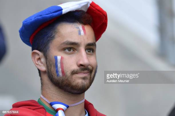 French fans during the HSBC rugby sevens match between France and England on May 13 2017 in Paris France