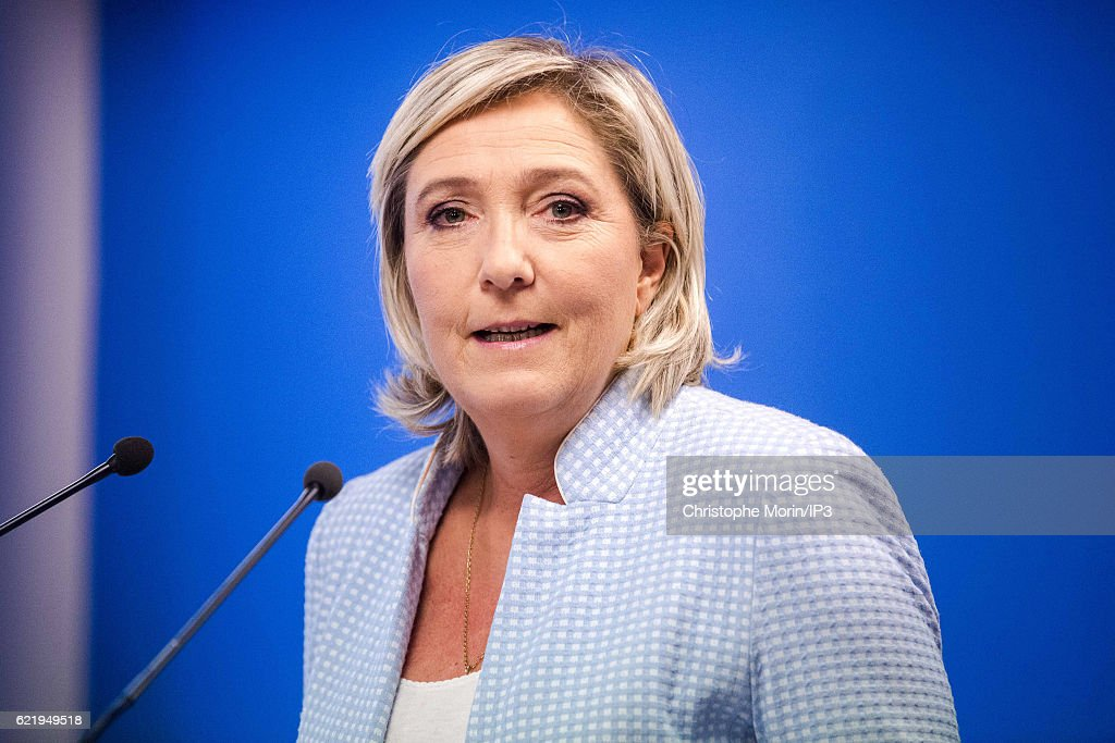 French far-right political Party National Front  Leader Marine Le Pen Comments Donald Trump's Election