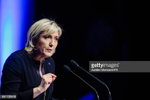 French far right National Front political party's leader Member of the European Parliament and candidate for the 2017 French Presidential Election...