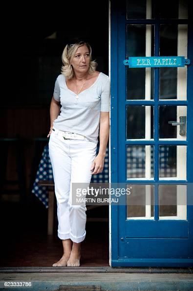 French far right party the National Front's vicepresident Marine Le Pen poses on July 28 2010 in La TrinitesurMer northern France Marine Le Pen the...