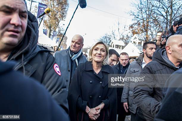French farright Front National party president member of European Parliament and candidate for France's 2017 presidential election Marine Le Pen...