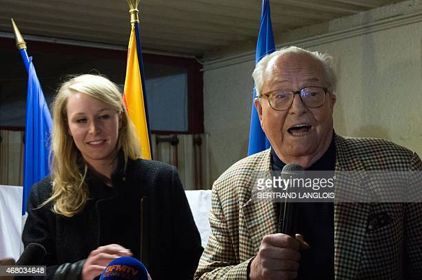 French farright Front National party's MP Marion MarechalLe Pen general secretary of the FN's Vaucluse department Federation and FN honour president...