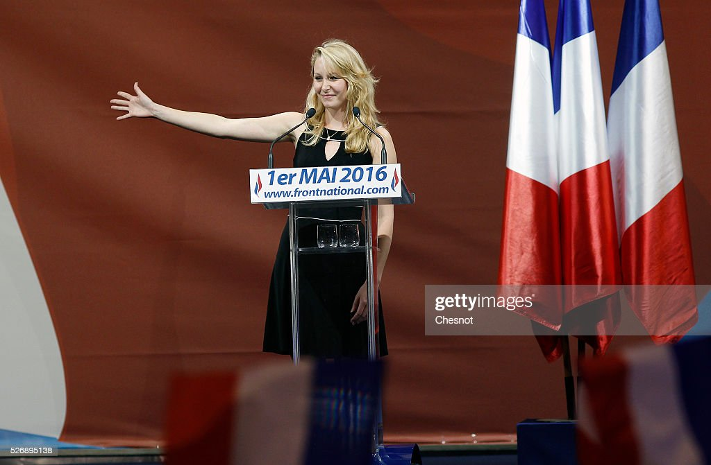 French far-right political party National Front (FN), member of parliament Marion Marechal-Le Pen delivers a speech during the party's traditional Joan of Arc (Jeanne d'Arc) May Day rally on May 1, 2016 in Paris, France. Labor Day or May Day is observed all over the world on the first day of the May to celebrate the economic and social achievements of workers and to fight for laborers' rights.