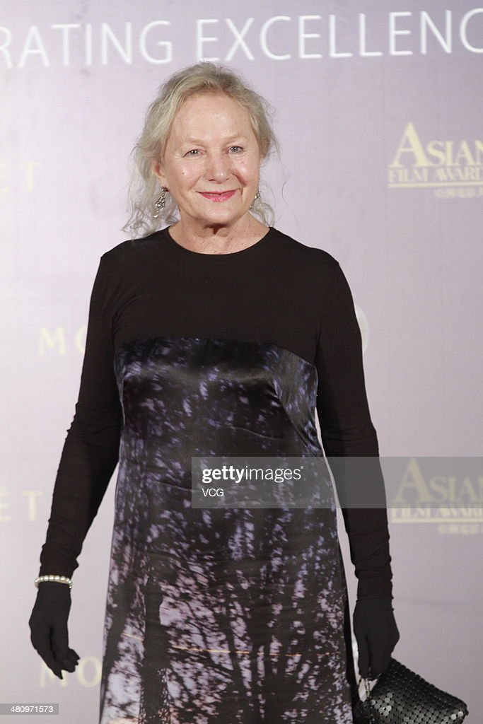 French fashion designer Agnes B attends red carpet of the The 8th Asia Film Award on March 27, 2014 in Macau, China.