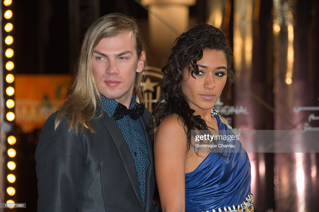 French Fashion Designer Christophe Guillarme and French Actress Josephine Jobert arrive to the Tribute To Chinese Director Zhang Yimou during the 12th International Marrakech Film Festival on December 2, 2012 in Marrakech, Morocco.