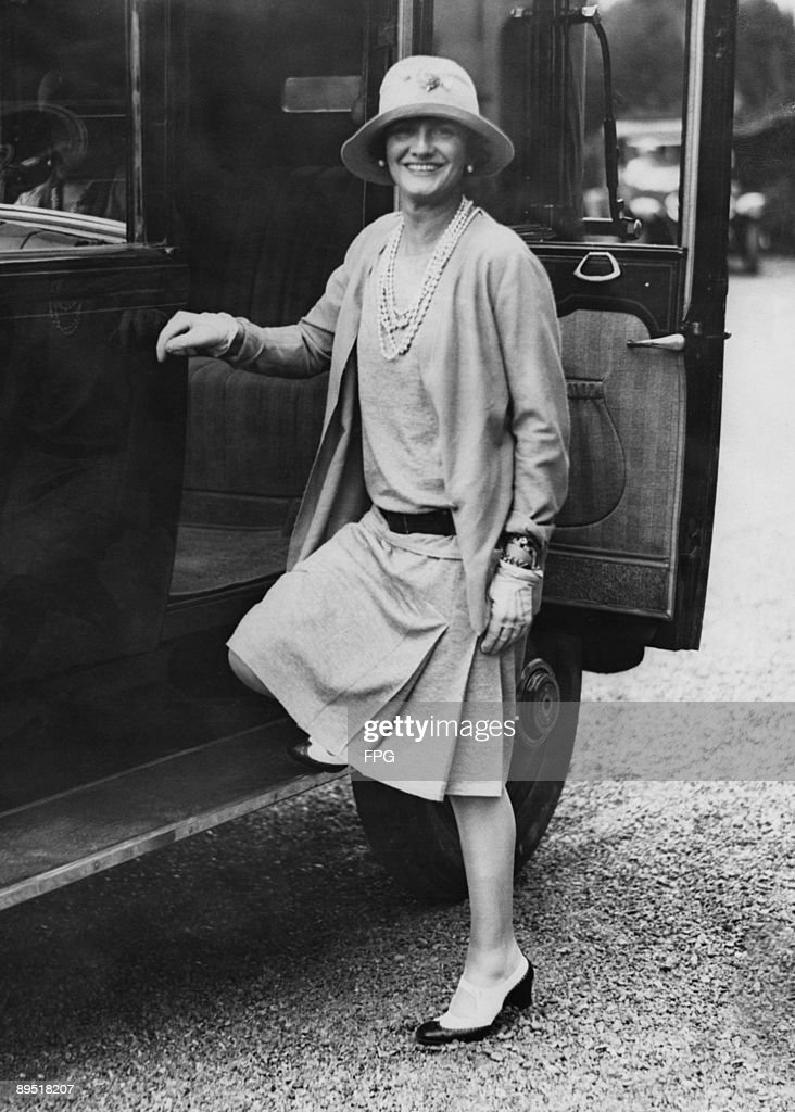 French fashion designer Coco Chanel (1883 - 1971) in the French seaside resort of Biarritz, circa 1928.