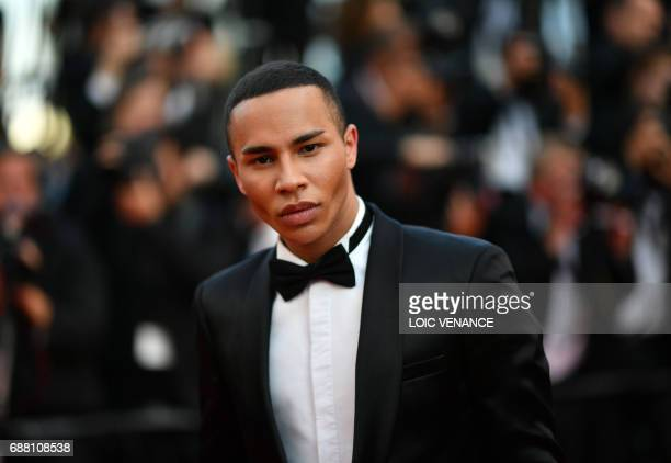 French fashion designer Olivier Rousteing poses as he arrives on May 24 2017 for the screening of the film 'The Beguiled' at the 70th edition of the...