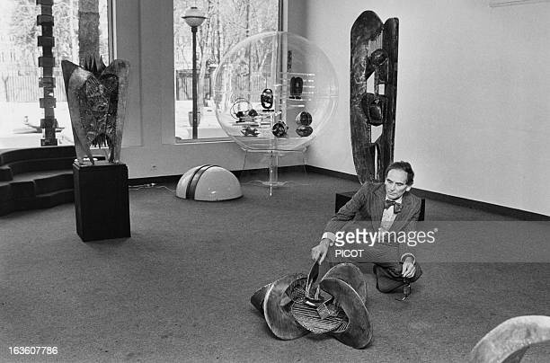 French fashion designer Pierre Cardin in the gallery of the Espace Pierre Cardin in Paris France on February 23 1976