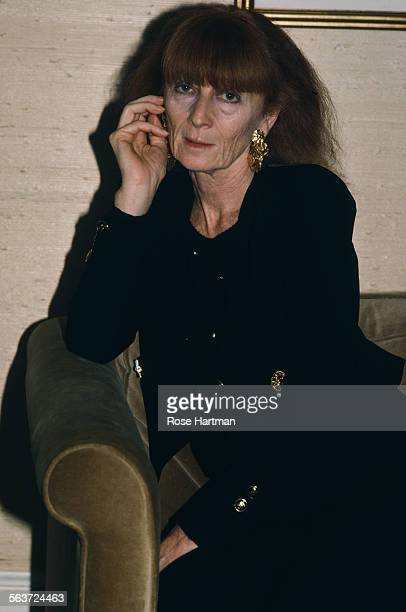 French fashion designer Sonia Rykiel at the opening of her boutique New York City circa 1985