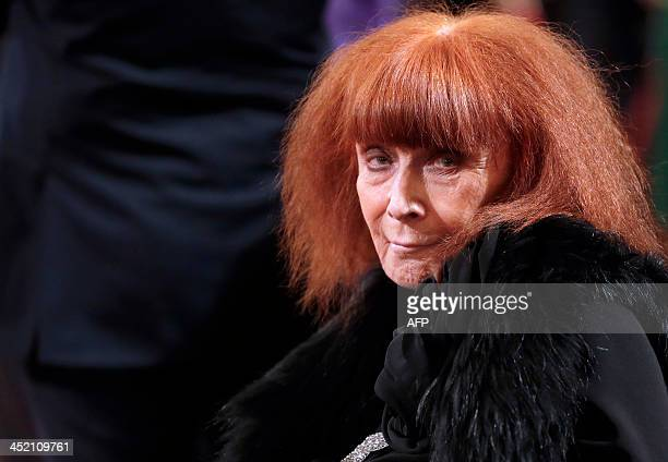 French fashion designer Sonia Rykiel attends a ceremony at the Elysee Palace in Paris November 26 where she was awarded the French decoration of...