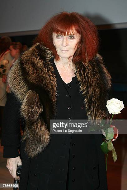 French fashion designer Sonia Rykiel attends The First Global Summit On Cervical Cancer on March 22nd 2007 at the UNESCO House in Paris France