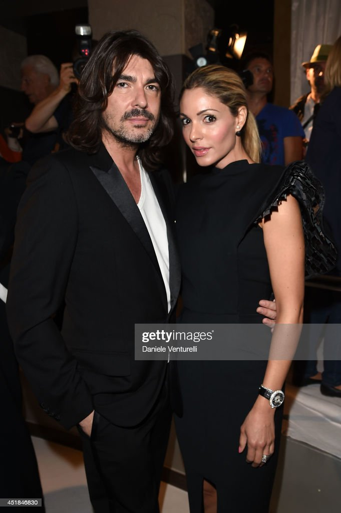 French fashion designer Stephane Rolland and Natalie Tabbara attend Stephane Rolland show as part of Paris Fashion Week Haute Couture Fall/Winter...