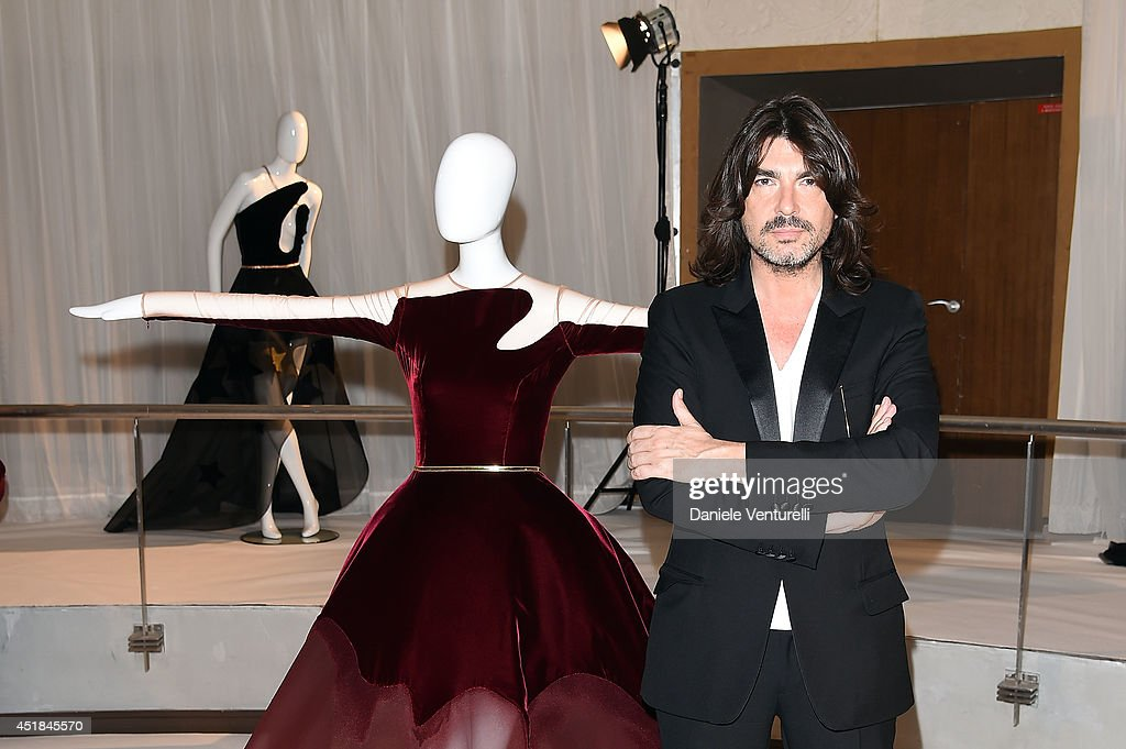 French fashion designer Stephane Rolland attend at Stephane Rolland show as part of Paris Fashion Week Haute Couture Fall/Winter 20142015 at Cinema...