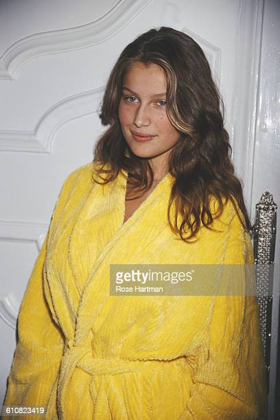 French fashion model Laetitia Casta at a Victoria's Secret fashion show in New York City 1998