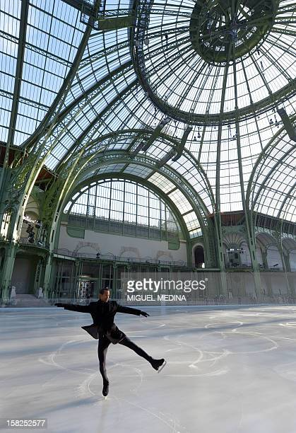 French Figure Skating former champion Fernand Fedronic performs on a giant rink hosted in the glassroofed central hall of the Grand Palais on...