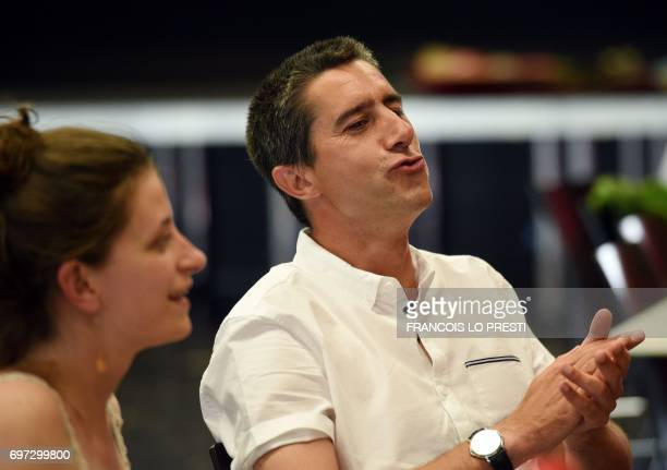 French film director and journalist candidate for La France Insoumise during the second round of the French parliamentary elections Francois Ruffin...