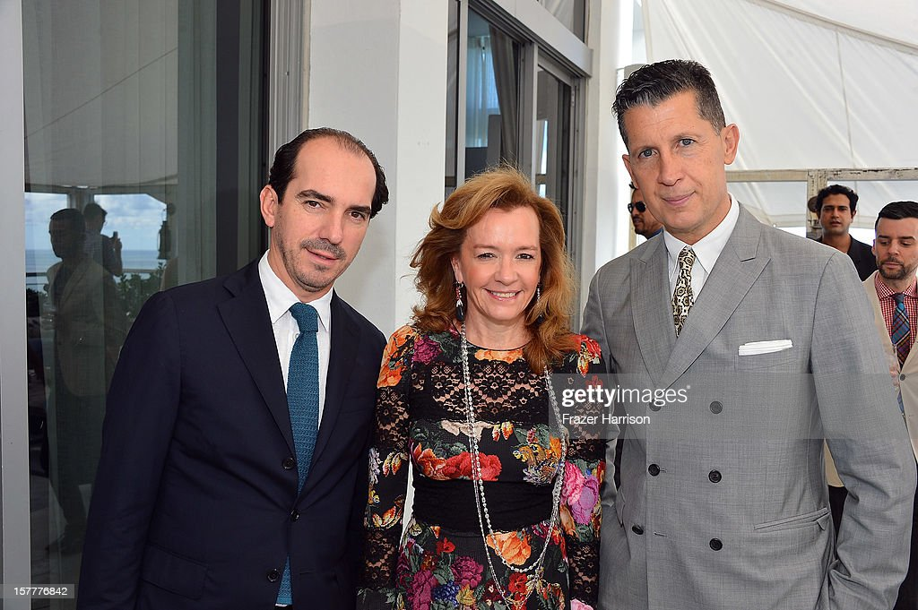 Alexis Veller, Caroline Scheufele and W magazine Editor-in-Chief <a gi-track='captionPersonalityLinkClicked' href=/galleries/search?phrase=Stefano+Tonchi&family=editorial&specificpeople=2497117 ng-click='$event.stopPropagation()'>Stefano Tonchi</a> attend the Chopard and W Magazine 'Marilyn Forever' exhibition at Soho Beach House on December 6, 2012 during Art Basel Miami in Miami Beach, Florida.