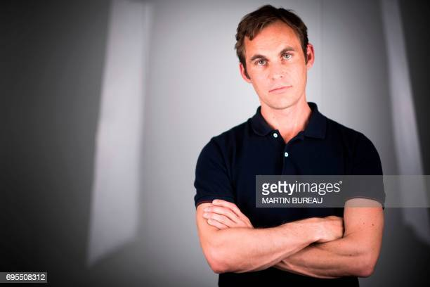 French film director Fabrice Gobert poses during a photo session on June 9 2017 in Paris / AFP PHOTO / Martin BUREAU