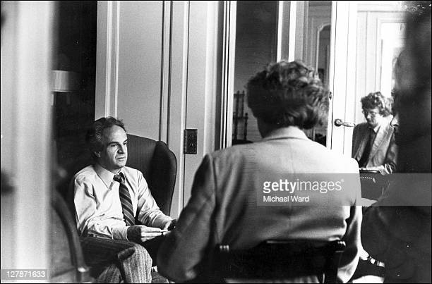 French film director Francois Truffaut being interviewed by Stephen Pyle