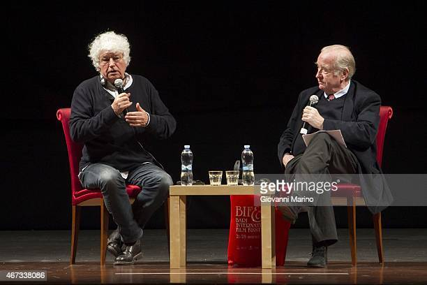 French film director JeanJacques Annaud holds a Master Class interviewed by French film critic Michel Ciment during Bifest 2015 on March 22 2015 in...
