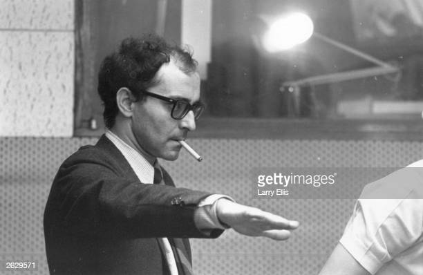 French film director JeanLuc Godard during the filming of 'Sympathy For the Devil' featuring the Rolling Stones Original Publication People Disc...