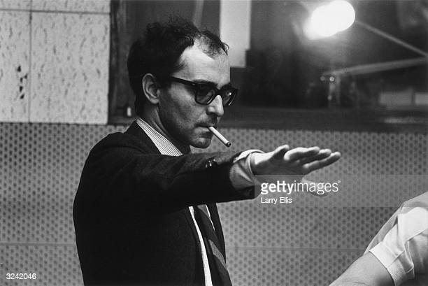 French film director JeanLuc Godard during the filming of 'Sympathy For the Devil' featuring the Rolling Stones