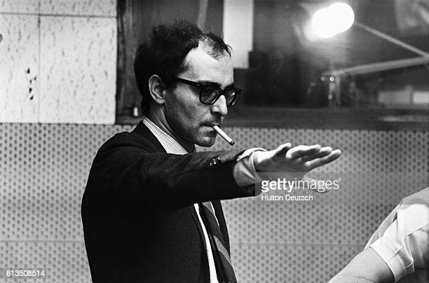 French film director JeanLuc Godard on the set of the film Sympathy for the Devil starring the Rolling Stones 1968