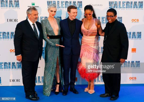 French film director Luc Besson British model and actress Cara Delevingne US actor Dane DeHaan and Barbadian singer and actress Rihanna and US actor...