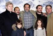 French film director Nicolas Vanier poses with French actors Tcheky Karyo Mehdi El Glaoui Dimitri Storoge Urbain Cancelier and Felix Bossuet before...