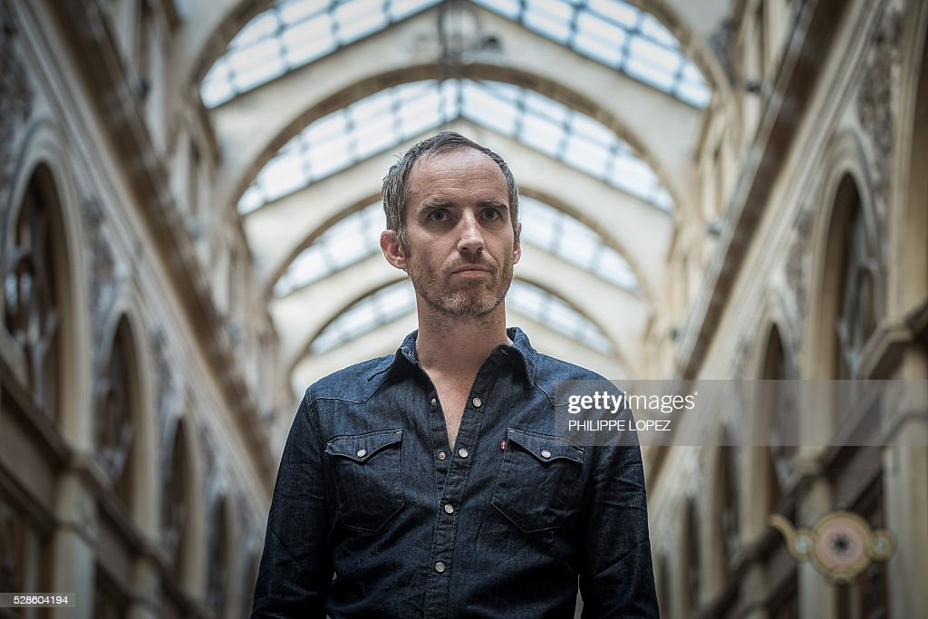 French filmmaker Jean-Christophe Meurisse poses in Paris on May 6, 2016. / AFP / PHILIPPE