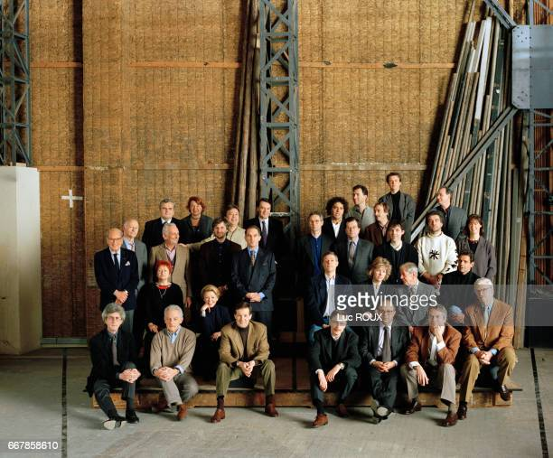 French filmmakers at the film studios of Boulogne Among them are Rene Cleitman Marin Karmitz Jean Labadie Christophe Rossignon Alain Sussfeld Charles...
