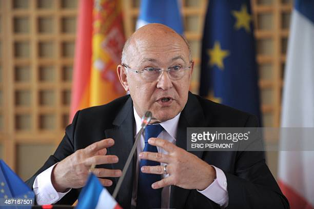 French Finance Minister Michel Sapin attends a G5 ministers meeting press conference about fraud and tax evasion at the French Economy Ministry in...