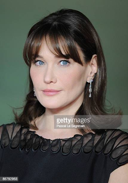 French First Lady Carla Bruni Sarkozy attends the opening of the NATO summit at the Kurhaus on April 3 2009 in Baden Baden Germany Heads of state...
