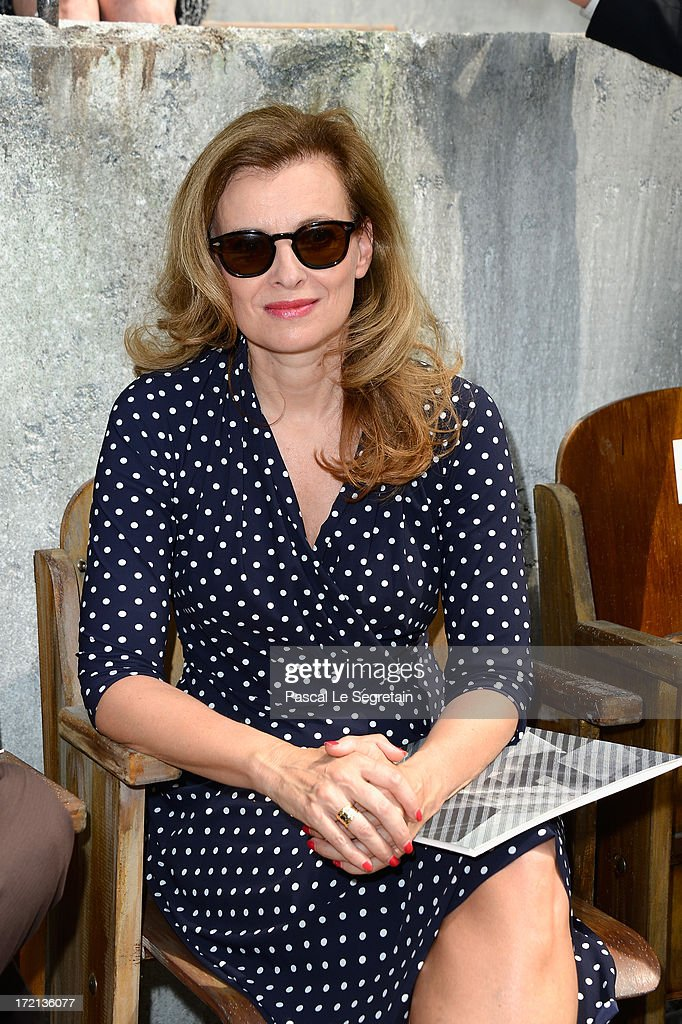 French First Lady Valerie Trierweiler attends the Chanel show as part of Paris Fashion Week Haute-Couture Fall/Winter 2013-2014 at Grand Palais on July 2, 2013 in Paris, France.