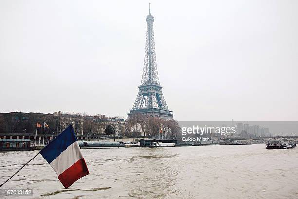 French flag and Eiffel tower.