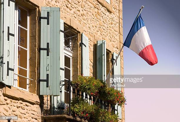 French flag on building