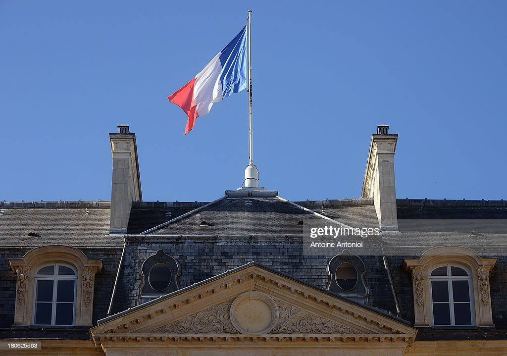 A French flag waves at the Elysee Presidential Palace during the 30th edition of France's European heritage days on September 15, 2013 in Paris, France. Monuments and state buildings are opened for free for two days to the public.