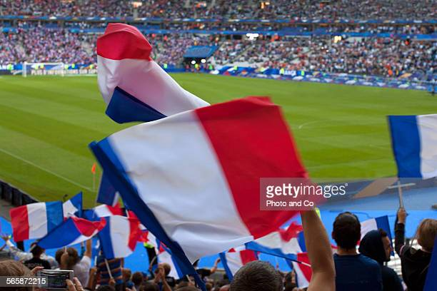 French Flags at Stadium