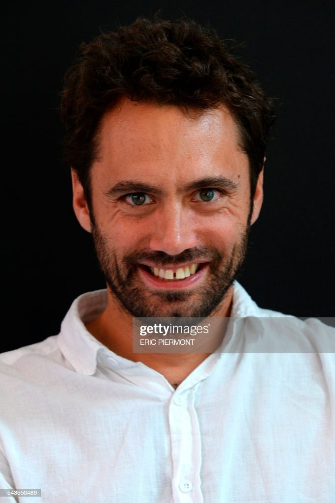 French food company Michel et Augustin co-founder and CEO Augustin Paluel-Marmont poses at the company headquarters in Boulogne Billancourt near Paris on June 29, 2016. French Food group Danone is in exclusive negotiations to acquire an interest of 40% in Michel et Augustin, Danone announced on June 28, 2016. / AFP / ERIC
