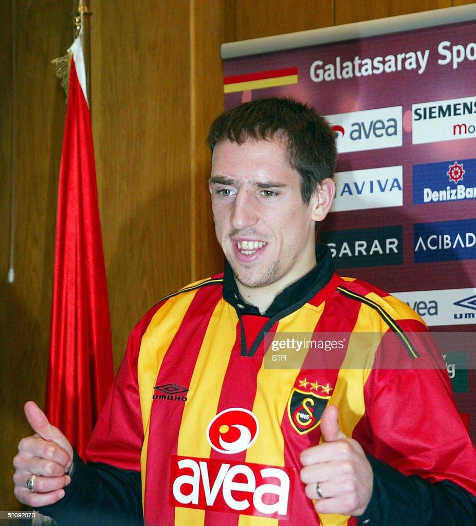 French football player Franck Ribery pos